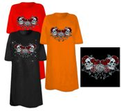 CLEARANCE! Skulls Roses and Key Heart Plus Size & Supersize T-Shirts 6x