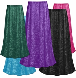 CLEARANCE! Plus Size Solid Color Crush Velvet Skirt L 0x 1x 3x 4x 5x