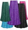 CLEARANCE! Plus Size Solid Color Crush Velvet Skirt L XL 0x 1x 3x 4x