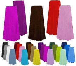 CLEARANCE! Solid Color Slinky or Velvet Plus Size Skirts 0x 1x