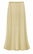 CLEARANCE! Solid Tan Color Slinky Plus Size Supersize Skirt 0x