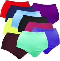 FINAL CLEARANCE SALE! Plus Size Solid Color Spandex Swimsuit Bottoms 0x 1x 2x