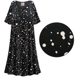 CLEARANCE! Splatter Print Plus Size & SuperSize Muumuu - Moo Moo Dress 7x
