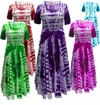 CLEARANCE! Tie Dye Cotton Summer Mock Wrap Dress 0x