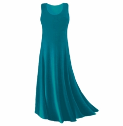 SOLD OUT! Plus Size Teal Slinky Tank Dress 1x
