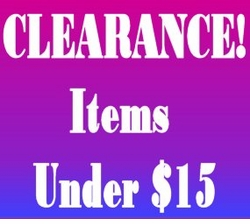 "CLEARANCE! - Under $15 <br><font size=""1"" color=""red""> (Last updated 11/16/10)</font>"