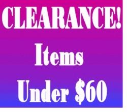 """CLEARANCE! - Under $60 <br><font size=""""1"""" color=""""red""""> (Last updated 11/09/10)</font>"""