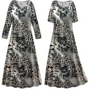 CLEARANCE! Plus Size Gray Animal Slinky Print Short Sleeve Dresses & Tanks - Sizes 0x 4x Tall