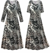 CLEARANCE! Plus Size Gray Animal Slinky Print Short Sleeve Dresses & Tanks - Sizes 0x