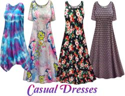 Mid to Casual Plus Size Dresses