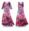 SOLD OUT! Colored Pencil Slinky Print Plus Size & Supersize Dress