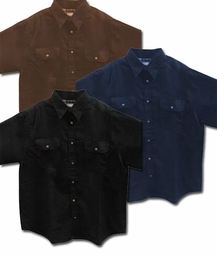 FINAL CLEARANCE SALE! Black, Indigo, or Brown Twill Top With Snaps Plus Size Shirt Jacket Std & Tall 4x 5x 6x 8x