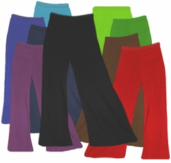 Palazzo's! Poly/Cotton Jersey Knit Stretchy Wide Leg Palazzo Pants with Elastic Waist Plus Size & Supersize XL 1x 2x 3x 4x 5x 6x 7x 8x