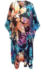 SALE! Customizable Plus Size Floral Print Mid Length Caftan Dress or Shirt 1x-6x