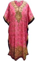 SALE! Customizable Plus Size Pink Marbled Print Long Caftan Dress or Shirt 1x-6x