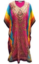 SALE! Customizable Plus Size Desert Flower Print Long Caftan Dress or Shirt 1x-6x