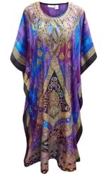 SALE! Customizable Plus Size Purple Haze Print Long Caftan Dress or Shirt 1x-6x
