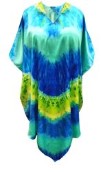 SALE! Customizable Plus Size Ocean Print Mid Length Satiny Caftan Dress or Shirt 1x-6x
