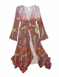Customizable Groovy Sparkle Sheer Swimsuit Coverup Plus Size & Supersize LG XL 0x 1x 2x 3x 4x 5x 6x 7x 8x