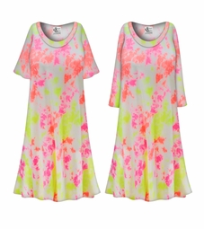 SALE! Customizable Plus Size Watercolor Tie Dye Print Sleep Gown - Muumuu - Moo Moo Dress 0x 1x 2x 3x 4x 5x 6x 7x 8x 9x