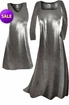 SOLD OUT! SALE! Silver Metallic Slinky Plus Size & Supersize Standard A-Line Dresses 3x