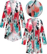 CLEARANCE! Plus Size Valentina Abstract Slinky Print Jackets & Dusters 0x