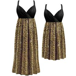 SALE! Customizable Sparkling Gold & Black Glimmer Animal Print Plus Size Lined Empire Waist Dress 0x 1x 2x 3x 4x 5x 6x 7x 8x