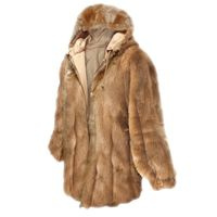 SOLD OUT! Brown Faux Fur Hooded Jacket Plus Size 5x