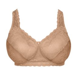 NEW! Plus Size Beige Sidewire Lace Bra by Comfort Choice 48C  48DD  50B  50D  52B  52C  52DD 54C  54DD