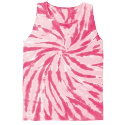 FINAL CLEARANCE SALE! Plus Size Pink Tie Dye Tank Top 4XL