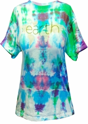 SOLD OUT! Earth Don't Turn Your Back On It 2-Sided Tie Dye Plus Size T-Shirt S M