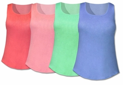 SOLD OUT!!! Plain Fitted Tanks Tops Plus Size T-Shirt Tanks 2XL