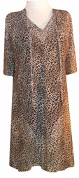 SOLD OUT! s6058 Sheer Leopard Swimsuit Cover-Ups or Over-Blouse Plus Size & Supersize