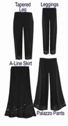 CLEARANCE! Starry Night Cotton Slinky & Velvet Skirts Palazzo's or Tapered Pants! 1x 2x 3x