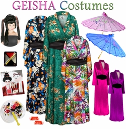 From the Far East! Geisha Girl Plus Size Costumes