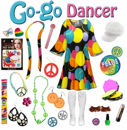 SOLD OUT! SALE! Double Bubble Print Plus Size Go-go Dancer Costume Kit Lg XL 0x 1x 2x 3x 4x 5x 6x 7x 8x 9x
