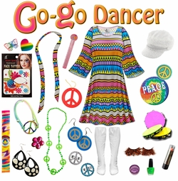SALE! Delirium Print Plus Size Go-go Dancer Costume Kit Lg XL 0x 1x 2x 3x 4x 5x 6x 7x 8x 9x