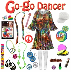 SALE! Paisley Print Plus Size Go-go Dancer Costume Kit Lg XL 0x 1x 2x 3x 4x 5x 6x 7x 8x 9x