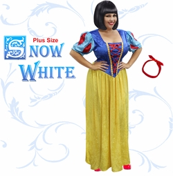 NEW! Plus Size Snow White Halloween Costume Lg XL 1x 2x 3x 4x 5x 6x 7x 8x