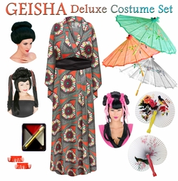 SALE! Medallion Print Geisha Costume Plus Size & Supersize 0x 1x 2x 3x 4x 5x 6x 7x 8x 9x