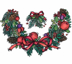 SALE! Holiday Decorative Holly Neck Wreath Plus Size & Supersize T-Shirts S M L XL 2x 3x 4x 5x 6x 7x 8x (All Colors)