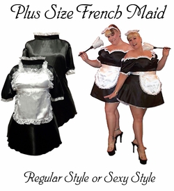 SALE! HOT! Black & White French Maid Costume Sexy Plus Size & Supersize Halloween Costume! 1x 3x