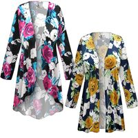 SOLD OUT! SALE! Customizable Plus Size Roses Slinky Print Jackets & Dusters - Sizes Lg XL 1x 2x 3x 4x 5x 6x 7x 8x 9x