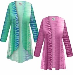 SALE! Customizable Plus Size Purple or Green Zebra Slinky Print Jackets & Dusters - Sizes Lg XL 1x 2x 3x 4x 5x 6x 7x 8x 9x
