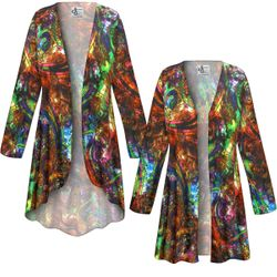 NEW! Customizable Plus Size Paisley Slinky Print Jackets & Dusters - Sizes Lg XL 1x 2x 3x 4x 5x 6x 7x 8x 9x