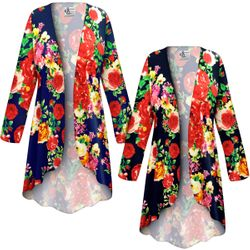 SOLD OUT! NEW! Customizable Plus Size Floral Slinky Print Jackets & Dusters - Sizes Lg XL 1x 2x 3x 4x 5x 6x 7x 8x 9x