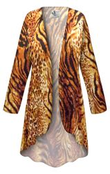 NEW! Customizable Plus Size Black & Orange Animal Slinky Print Jackets & Dusters - Sizes Lg XL 1x 2x 3x 4x 5x 6x 7x 8x 9x