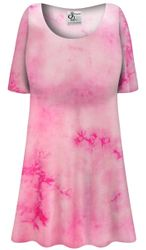 LIMITED! Customizable Plus Size Strawberry Cotton Print Extra Long Soft Rayon Blend T-Shirts 0x 1x 2x 3x 4x 5x 6x 7x 8x 9x