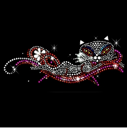 SALE! Lounging Rhinestud Rhinestones Cat Plus Size & Supersize T-Shirts L XL 1x 2x 3x 4x 5x 6x 7x 8x