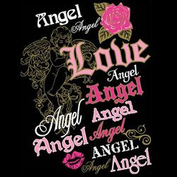 SALE! Love and Angels Plus Size & Supersize T-Shirts S M L XL 2x 3x 4x 5x 6x 7x 8x (Dark Colors Only)